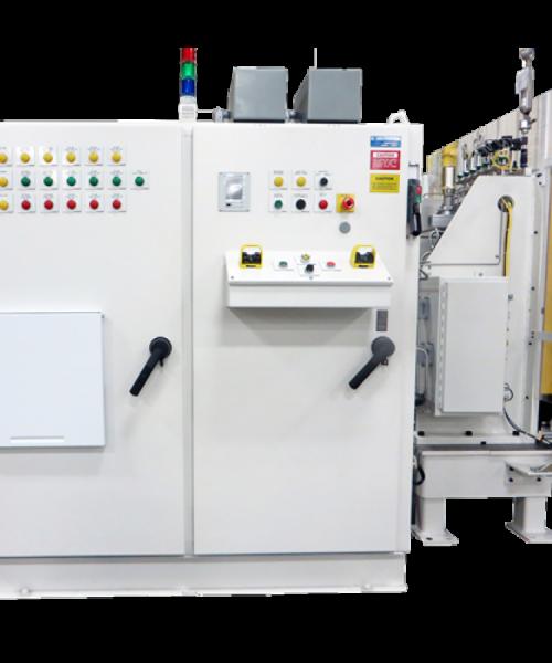 Burst Test/Helium Mass Spectrometer Leak Test System